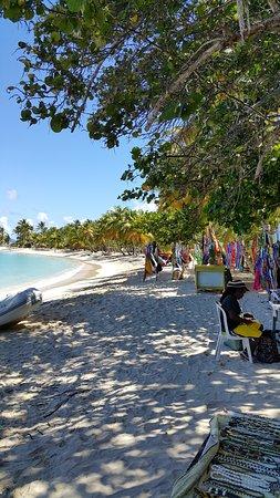 Mayreau: une vue de la plage