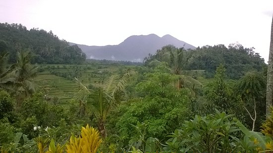 Seraya, Indonesia: View across valley from rooms