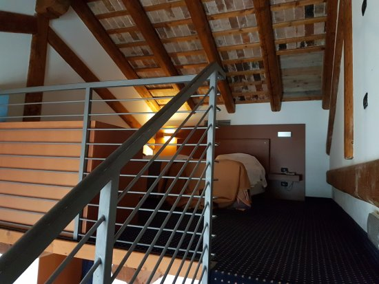 taken from the stairs leading up to the mezzanine bedroom in room rh en tripadvisor com hk