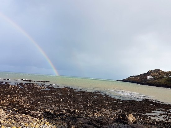 Howth, Ierland: Rainbow before the shower...