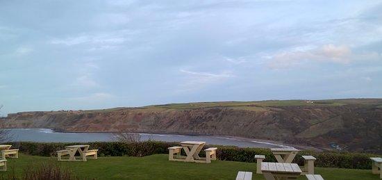 Runswick, UK: View from terrace of Goldsborough Room