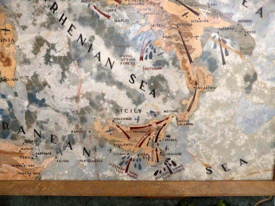 Tavarnuzze, Italia: Detailkarte des Vormarschs im memorial
