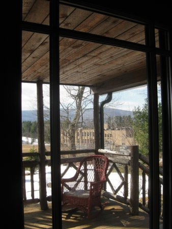 Tannersville, NY: View of the Mountains and the School from the Private Cabin