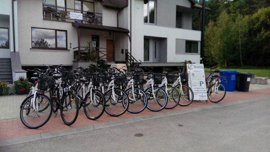 Birstonas, Lithuania: Bicycle rental place
