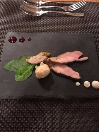 Egerton, UK: Duck with Chicken Liver Mousse