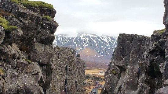 Thingvellir, Ισλανδία: Thingvellier park tectonical plates rift view