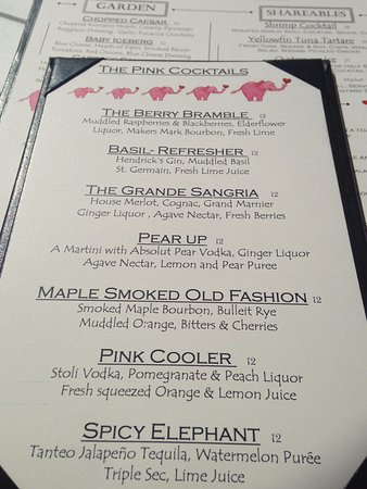 Lunch Menu Picture Of The Pink Elephant Boca Grande