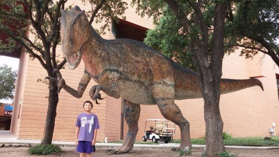 Fort Worth Museum of Science & History: This ferocious looking guy is on the outside of the museum but he's not a TREX