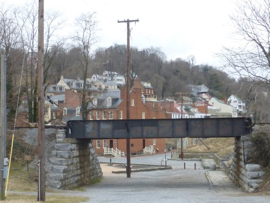 View of Harpers Ferry from river overlook