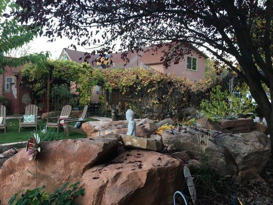 Cali Cochitta Bed & Breakfast: Courtyard with Deer