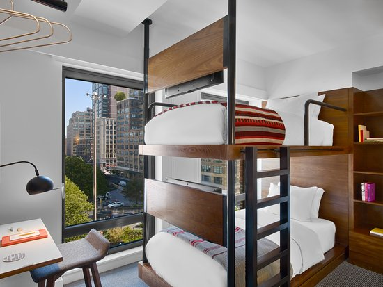 Arlo Soho Bunk Bed Guest Room At Hudson Square