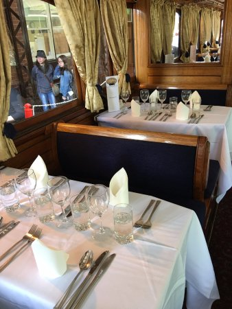 Belgrave, Australia: A peek inside the First Class carriage for the Steam and Cuisine train ride