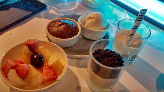 Hasselt, Bélgica: Volledig dessertenassortiment