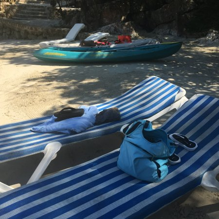 A Paradise Cove Escape and Haitian Village Experience: Beach chairs at Paradise Cove