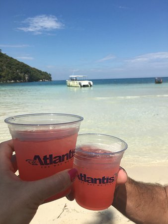 A Paradise Cove Escape and Haitian Village Experience: Complimentary rum punch at Paradise Cove