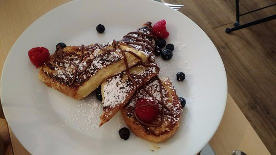 Woodside, NY: Pain perdu (French toast) - thick, gooey and delicious!