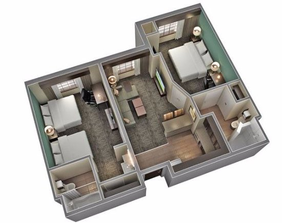 Cathedral City, CA: Two Bedroom/Two Bathroom Layout