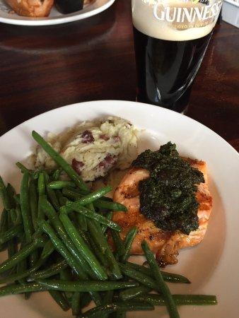 Bethlehem, PA: Grilled Scottish Salmon with Pesto