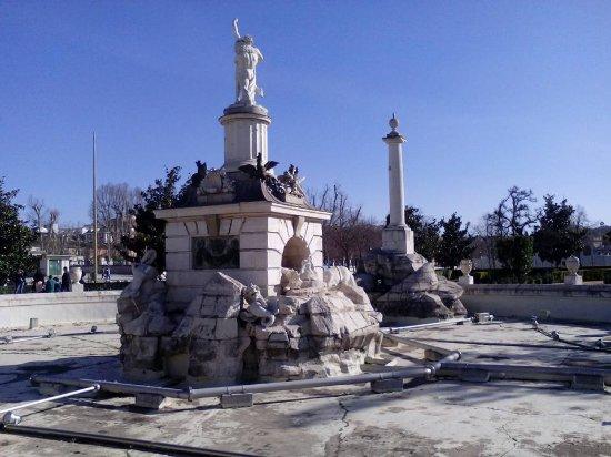 Fuente de Hercules y Anteo : Fuente de Hércules y Anteo, Aranjuez, Provincia de Madrid.
