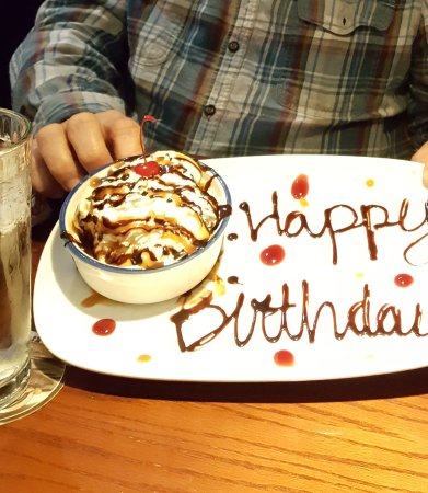 personalize birthday dessert picture of red lobster ames