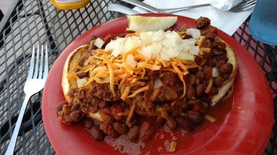Polson, MT: chili cheese burger