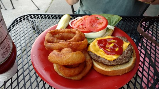 Polson, MT: burger with rings
