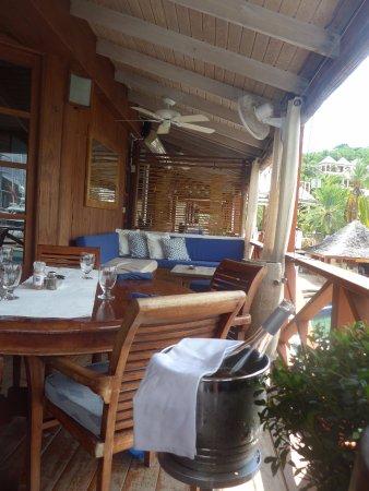 Falmouth, Antigua: Partie de la terrasse