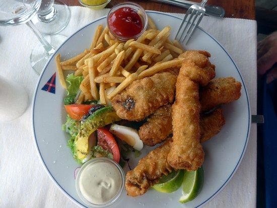 Falmouth, Antigua: Fish and chips
