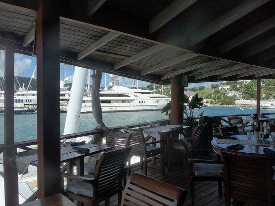 Falmouth, Antigua: Une des vues de la terrasse
