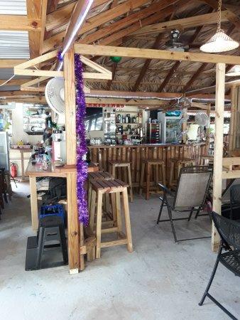 Mount Irvine, Tobago: Rustic Bar Area