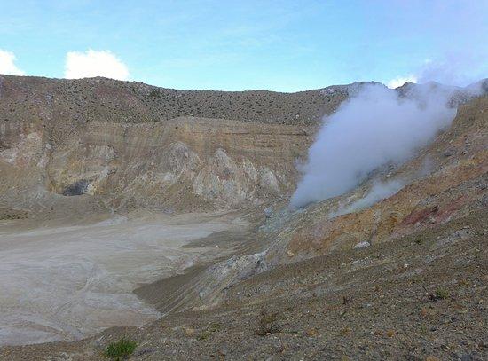 Mount Egon : Blick in den Krater