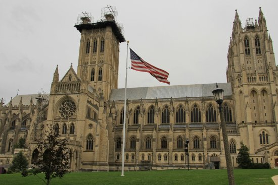 Washington National Cathedral: National Cathedral from the side; still doesn't convey the sheer size and ornate beauty.