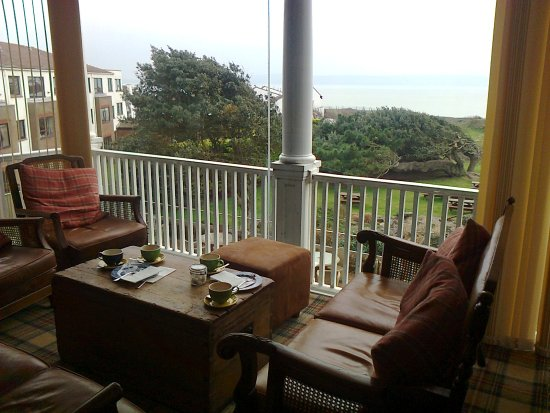 Milford on Sea, UK: A cosy corner at The Beach House on a winter's day for morning coffee, tea and tasty cakes