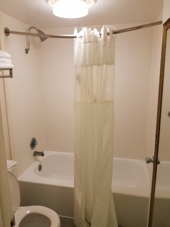 Ramada Altamonte Springs: Shower curtain installed next day. Worries over.