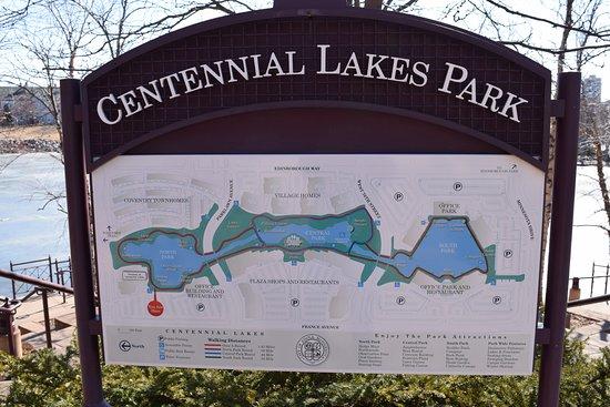 Edina, MN: Park map