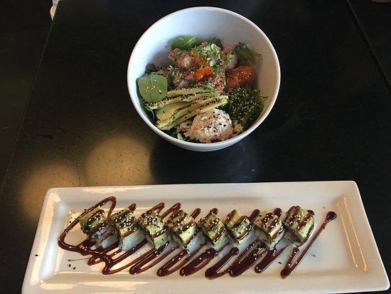 Rowland Heights, CA: Poke bowl & catterpillar sushi