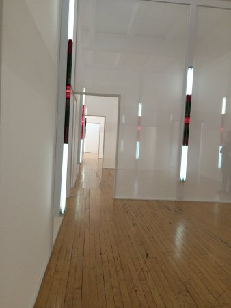 Beacon, NY: square room after room after room of light and boxes