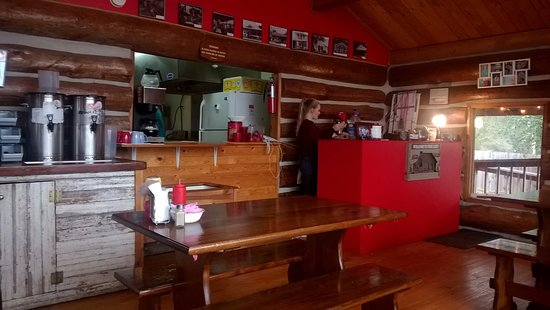 Edom, TX: You pay here and the waitress takes your order. She was very pretty.