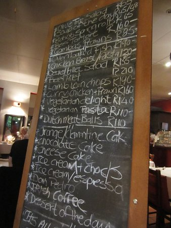 The Olive Tree: Neat way to show the menu