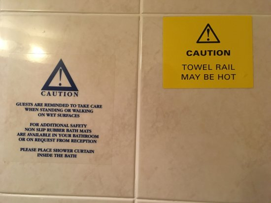 No heated towel ral in bathroom (but if there was would be hot) & no ...