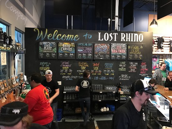 Lost Rhino Brewing Company: Beer selection.