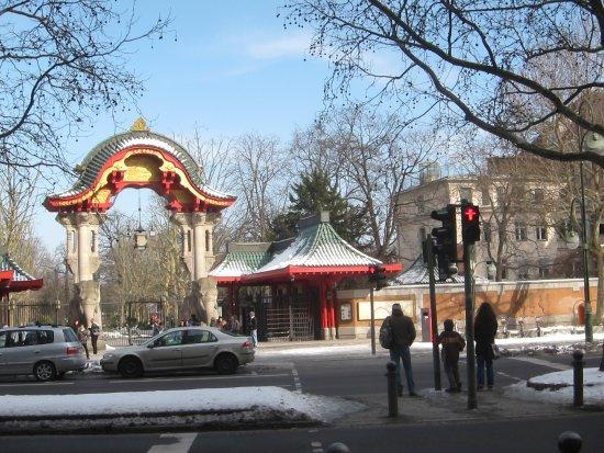 Main Entrance Of Berlin Zoologischer Garten Not Far From The Hotel