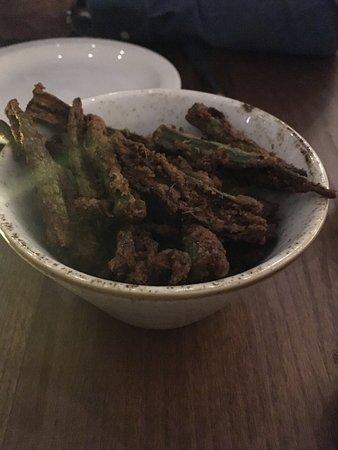 Loughton, UK: Okra fries