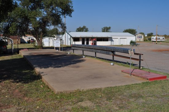 Elk City, OK: This is our RV Park and Mobile Home Park storm shelter.  Located at the front entrance.