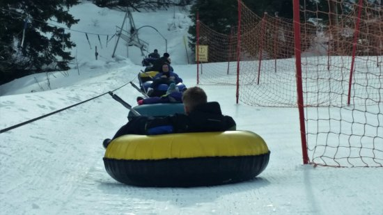 Park City, UT: lazy tubing, getting pulled up the mountain
