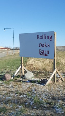 Spirit Lake, Αϊόβα: Rolling Oaks Barn Entrance Sign