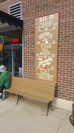Wabasha, Minnesota: Sign outside of the entrance
