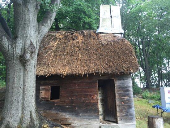 Salem 1630: Pioneer Village: santa got stuck and split the chimney!