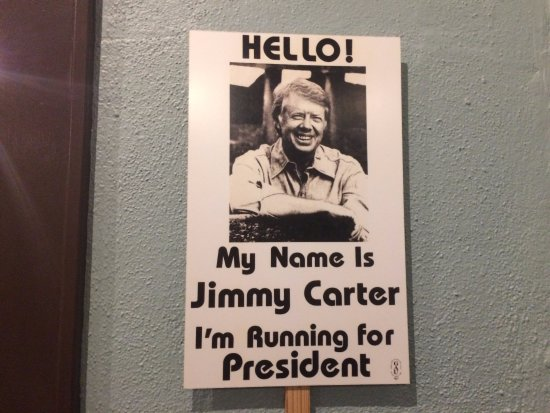 Jimmy Carter National Historic Site: Simple campaign sign desplayed in the museum