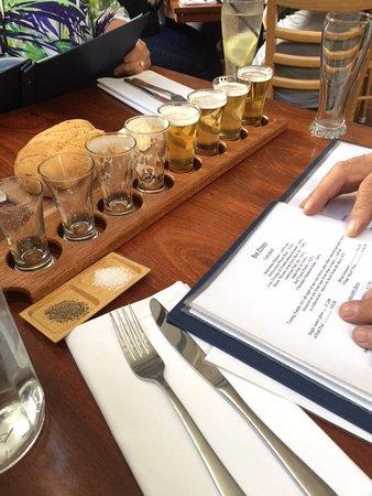 Lobethal, Australia: platters of beer